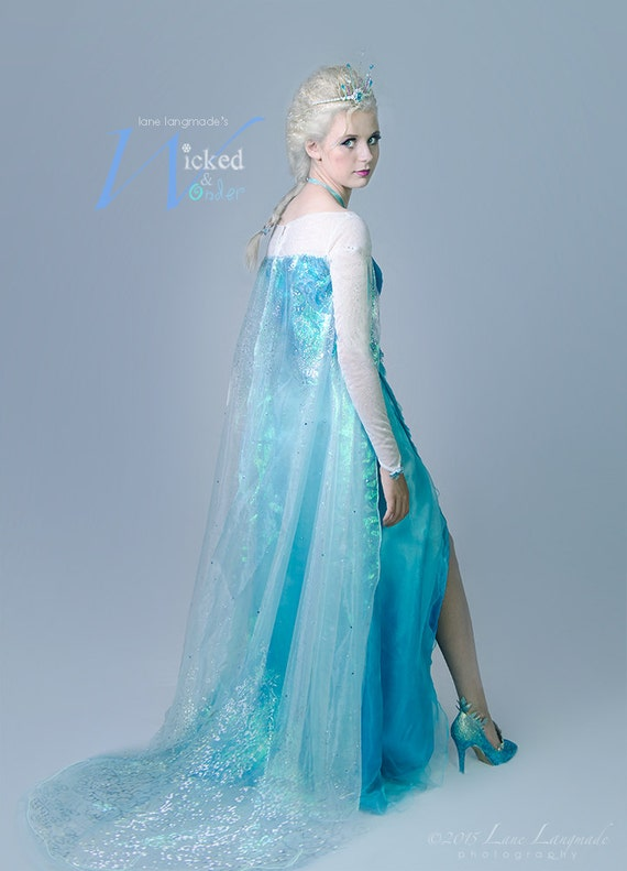 ELSA DRESS for Adults and teens Custom Frozen Costume Elsa | Etsy