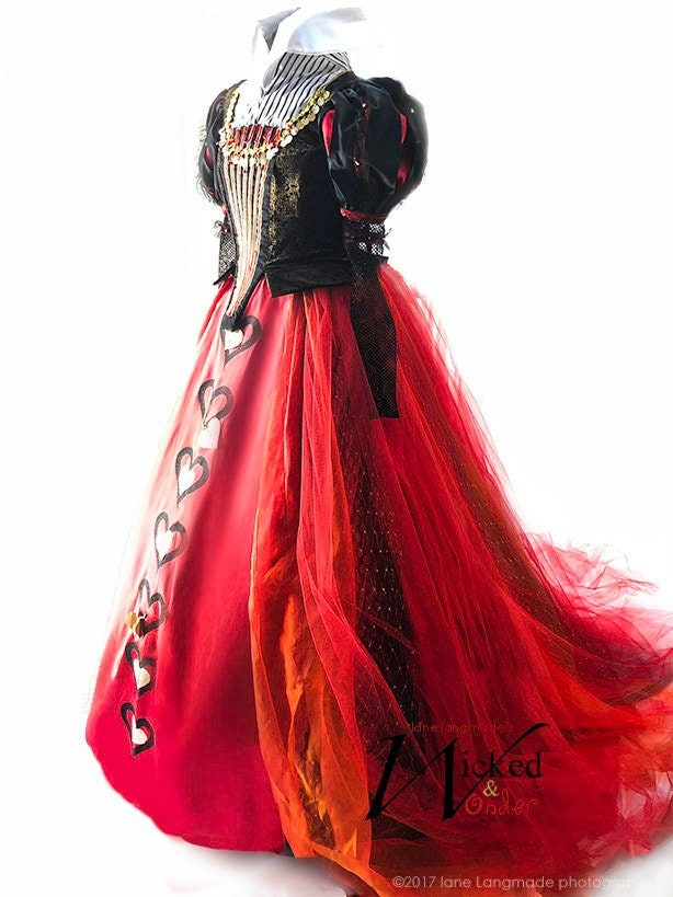 Womens Iracebeth Red Queen Costume
