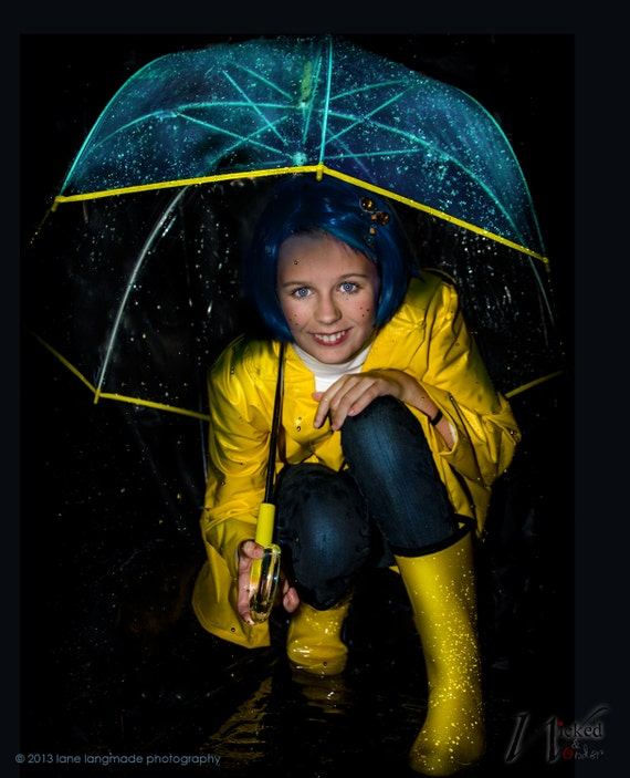 Coraline Costume Coraline Raincoat For Womens Adult Etsy