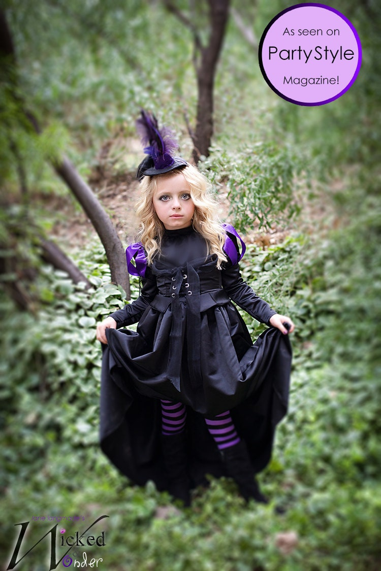 36f29bfedda07 Witch Tights for Girls in Black and Purple stripes Striped | Etsy