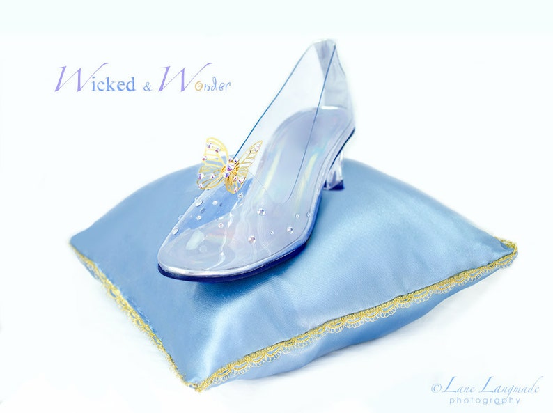 df72bbb10 NEW Cinderella 2015 Glass Slippers FOR GIRLS with | Etsy