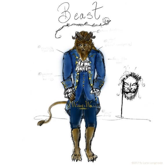 Beast Costume From Beauty And The Beast 2017 For Boys In Blue Etsy