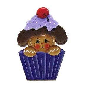 Gingerbread Decor Kitchen Decor,Frige Magnet Home Decor Gingerbread Cupcake Magnet