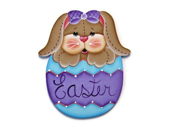 decortive ester ccents easter rabbit decor bunny.htm bunny in easter egg fridge magnet tag or ornament etsy  bunny in easter egg fridge magnet tag