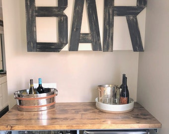 Bar wall decor | Etsy