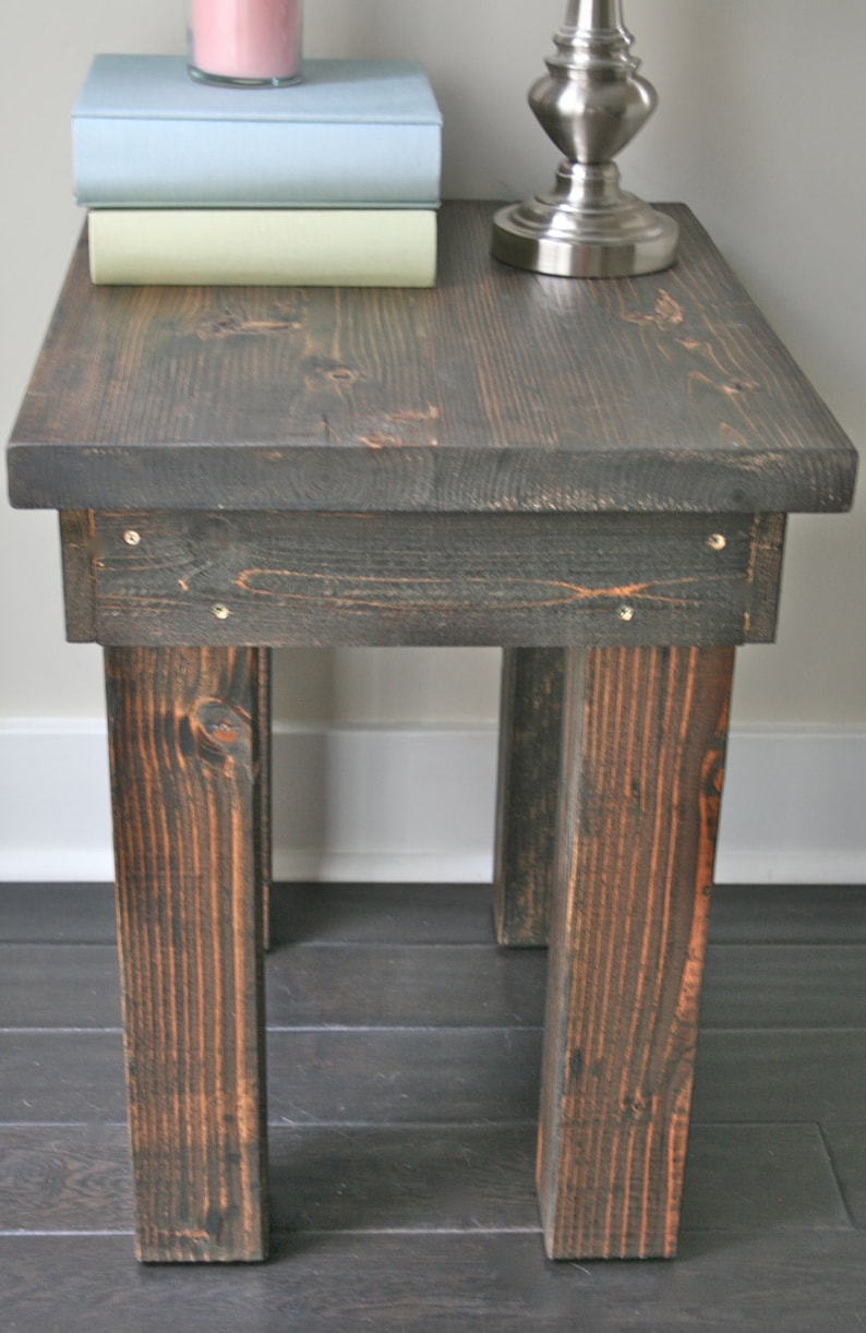 Rustic Side Table - Living Room, Bedroom Furniture, Farmhouse Side Table,  Wood Side Table, End Table