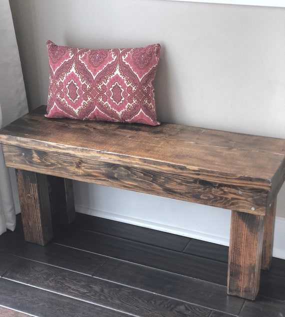 Super Wood Bench Rustic 3 Feet Mudroom Bench Entry Bench Rustic Bench Farmhouse Bench Custom Stain Squirreltailoven Fun Painted Chair Ideas Images Squirreltailovenorg