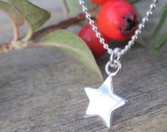 Sterling Silver Star Pendant 18 inch ball chain