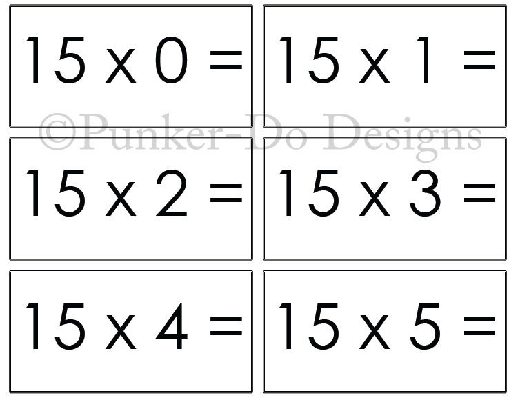 Stupendous image pertaining to multiplication flash cards printable