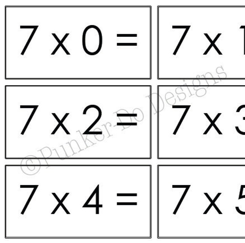 photo relating to Math Flash Cards Printable named Multiplication - MATH - flash playing cards - 1x-12x - Prompt Down load Printable PDF - by means of Punker-do Plans - Clroom Homeschool