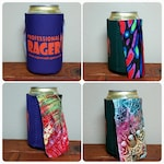 5 PACK of Professional Rager Caped Can Coolers with Handmade Capes