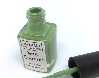 12ml Nail Polish - Aquarius- mint/green colour.