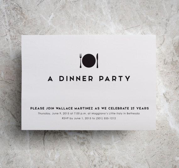 Dinner Invitation Company Dinner Corporate Dinner Anniversary Dinner Company Event Corporate Event Fundraiser Invite