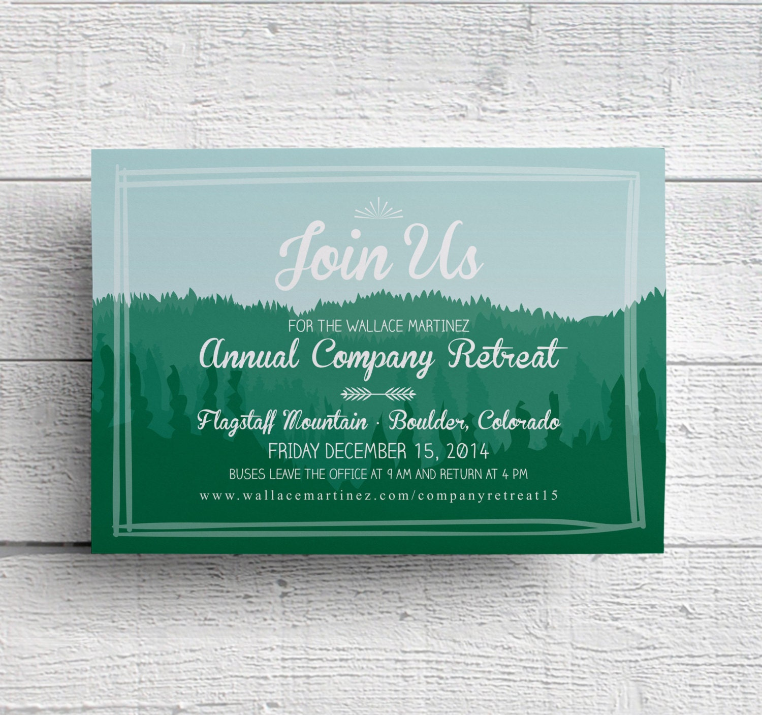 Company Retreat Invitation Mountain Invitation Company Etsy