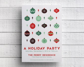 Holiday Party Invitation or Christmas Party Invites, for Christmas Event, Holiday Event, or Christmas Sale, available Printable or Printed