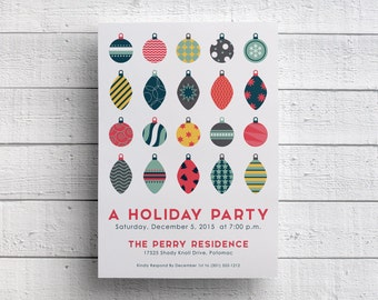 Christmas Party Invitation or Holiday Party Invitation for Holiday Company Party or Christmas Event available Printable or Printed