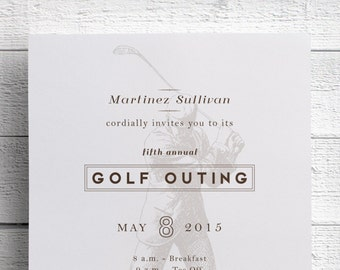 Golf Invitation for Golf Tournament, Golf Outing, or Bachelor Party, can also be used as Golf Invite, Golf Tournament Flyer or Save the Date