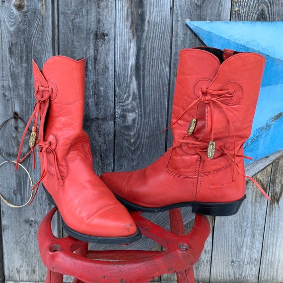 red cowgirl boots by Capezio