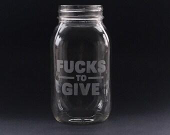 "Jar of ""Fucks to Give"""
