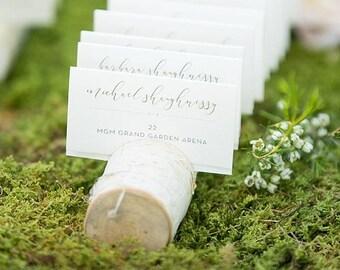 Carte de place porte bouleau - titulaire de la carte mariage - mariage - décoration de mariage rustique - bouleau - Branches de bouleau - mariage rustique cartes