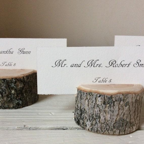 Woodland Place Card Holders / Escort Card Holders / Name Card Holders / Escort Card Display Stands / Wedding / Table Decor