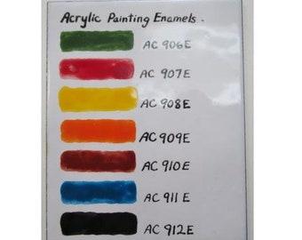 Black, Thompson Enamel, Acrylic Enamels, Enamel Paints, Enameling Painting, Enamel Supply, Learn to Enamel, Painting with Fire