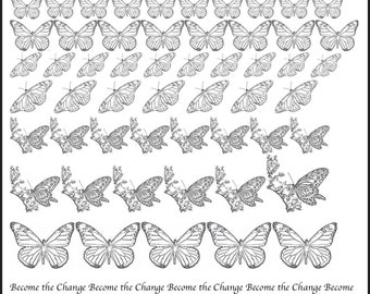 Butterfly Decals, Full Sheet, Monarch Butterfly Decals, Painting with Fire, Decals for enamel, Enamel, Ceramic Decals, Ceramics, or Glass