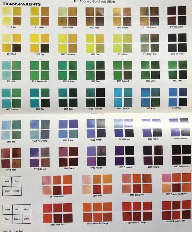 C Grade Thompson Enamel 2 oz or 8 oz jar Transparent Colors image 0