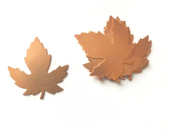 Copper Maple Leaf, Qty 6, Copper Leaf,Copper Blank, Copper Stamping, Copper Form, Copper Component, Copper, Copper Shape, Painting with Fire