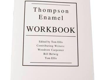Thompson Enamel Workbook, Learn how to Enamel, Enameling Supplies, DIY Enameling, Thompson Enamel, Painting with Fire Studio, Enameling
