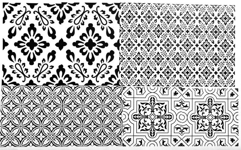 Vintage Pattern Decals for Enamel Image Transfer Ceramics image 0