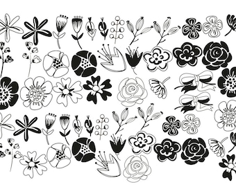 Flower Ceramic Decals for Enamel, Poppy, Ceramics, or Glass