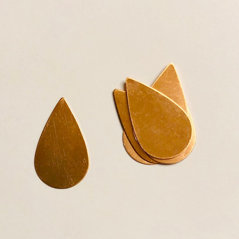 Copper Tear Drop Tear Drop Shape Tear Drop Copper Blank image 0