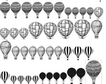 Hot air ballon Decals, Full Sheet, Decals for Enameling, Decal for Enamel, Decal Sheet, Ceramic Decals for Enamel, Ceramics, or Glass