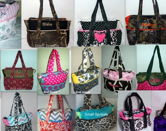 Add A Matching Diaper Bag-Choose Your Fabric