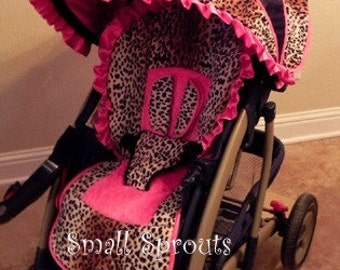 Custom Boutique Stroller Seat Cover and Canopy, Choose Your Fabric