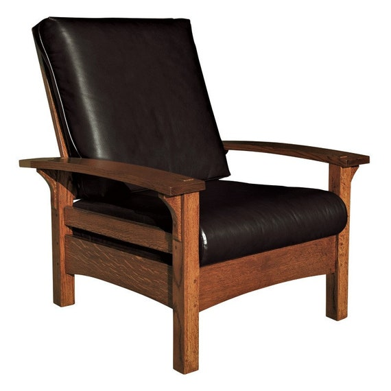 Awesome Mission Arts Crafts Stickley Style Bow Arm Morris Chair Recliner Leather New Alphanode Cool Chair Designs And Ideas Alphanodeonline