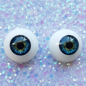 plushie eyes toy eyes bjd eyes 1 pair kaleidoscope pattern amber yellow dolls eyes Reborn doll eyes 20mm  0.78 inches