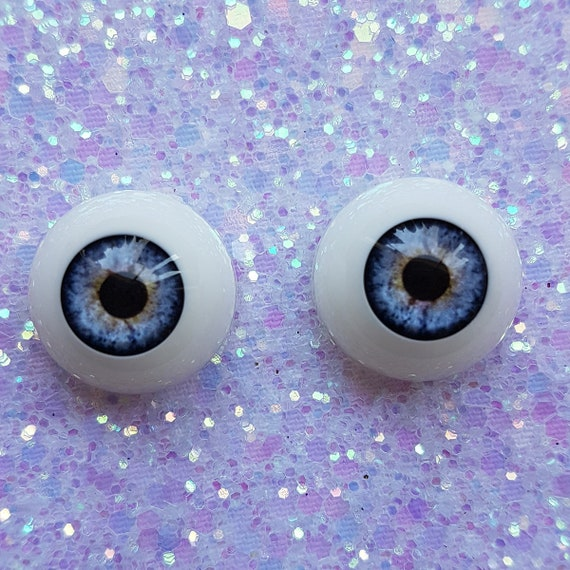 Acrylic /& FAST  SHIPPING!!!! 18mm Pabol Reborn Doll Eyes BLUE Half Round ..
