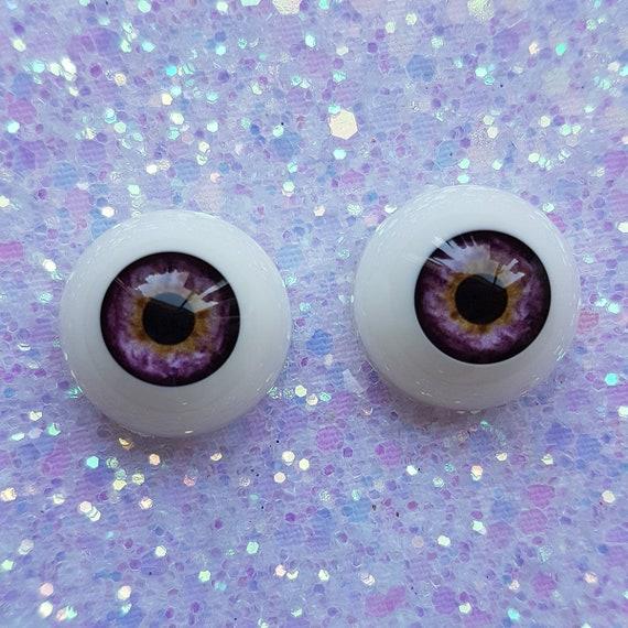 New Colorful Iris 8mm Glass BJD Eyes for OOAK BJD Dollfie purple/&Blue
