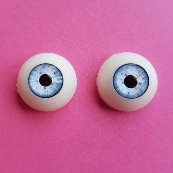 Eyes for Reborn//NewBorn BJD Doll Pink Iris/&Red Pupil Colorful 18mm Glass