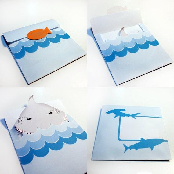 Bajo el tiburón mar invitan tarjeta Editable para imprimir | Etsy