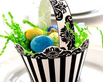 Modern Damask and Stripe Posh Printable Easter Basket