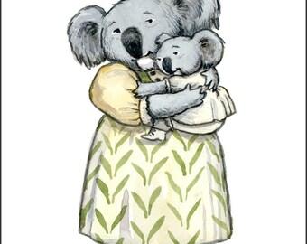 Mama Koala Cuddle, individual Mothers Day card.