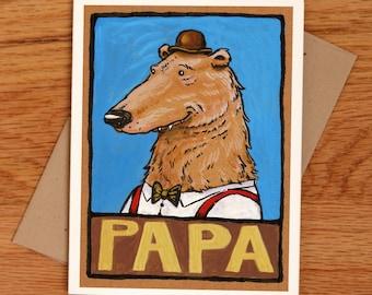 Papa Bear, father's day card