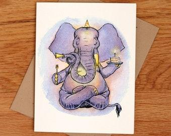 Birthday Yogi, individual card.