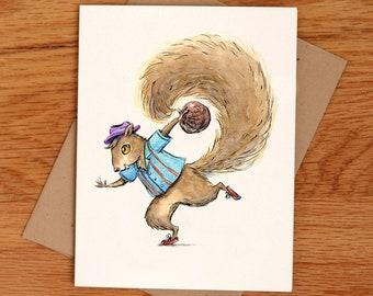 Bowler Squirrel, individual card.