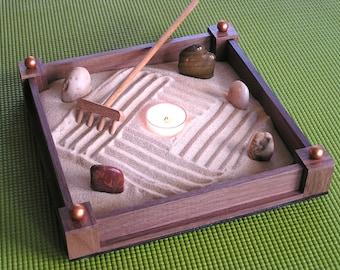 Zen Sand Garden in Walnut