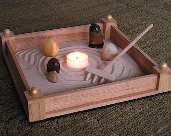 Zen Sand Garden in Light Oak