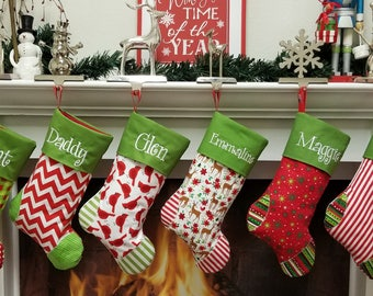 personalized christmas stockings 27 styles embroidered personalizedmonogrammed get a head start for 2018 - Christmas Stockings Personalized